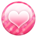 Button, Heart, Pink Icon