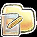 Folder, g, Notebook Icon