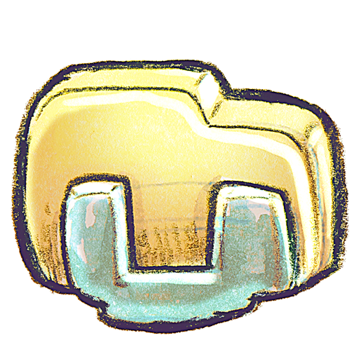 g, Libraries Icon