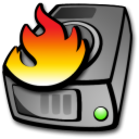 Burning, Harddrive Icon