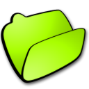 Folder, Lime, Open Icon