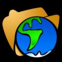Folder, Globe Icon