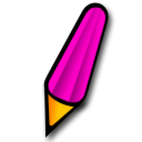 Pen, Pink Icon
