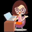 Callcenter, Girls, Glasses Icon