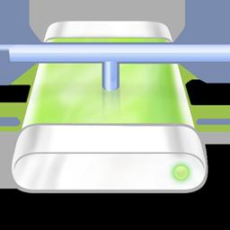 Drive, Green, Network Icon