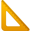 Ruler, Triangle Icon