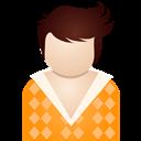 Boy, Orange Icon