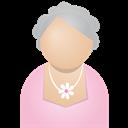 Grey, Woman Icon