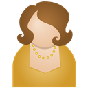 Brown, Woman Icon