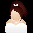 White, Woman Icon