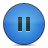 Blue, Button, Pause Icon