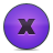 Button, Delete, Violet Icon