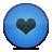 Blue, Button, Heart, Love Icon
