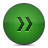 Button, Fastforward, Green Icon
