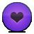 Button, Heart, Love, Violet Icon