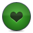 Green, Heart, Love Icon