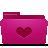 Favorites, Folder, Heart, Love, Pink Icon
