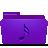 Folder, Music, Violet Icon