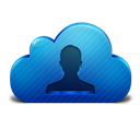 Cloud, Contacts, Icon Icon