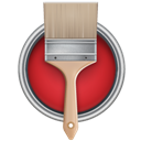 Brush, Can, Paint, With Icon
