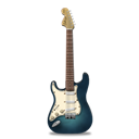 Guitar, Stratocastor, Turquoise Icon