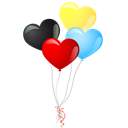 Balloons, Heart Icon