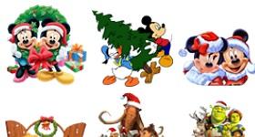 Cartoon Christmas Icons