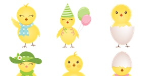 Cute Chicken Icons