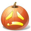 Halloween, Jack, Lantern, Pumpkin, Sad Icon