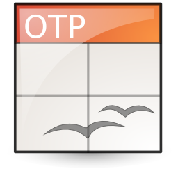 Application, Template, Vnd.Oasis.Opendocument.Presentation Icon