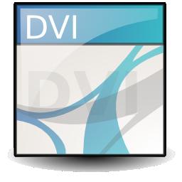 Application, Dvi, Mime Icon