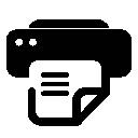 And, Fax, Printer Icon