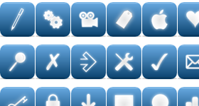 Elegant Blue Web Icons