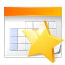 Appointment, Bookmark, Calendar, Star Icon