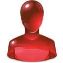 Guy, Red, User Icon