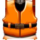 Help, Life, Orange, Rescue, Support, Vest Icon