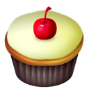 Cake, Food, Vanilla Icon
