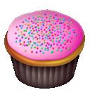 Cake, Cupcake, Pink Icon