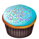 Blue, Cake, Food Icon