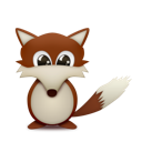 Animal, Clever, Cute, Fox, Smart Icon