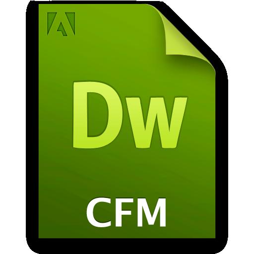 Cfm, Doc, Document, File Icon