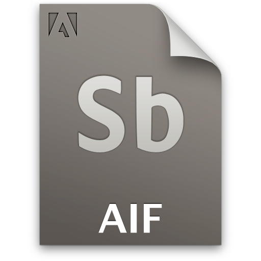 Aif, Document, File, Sb, Secondary Icon