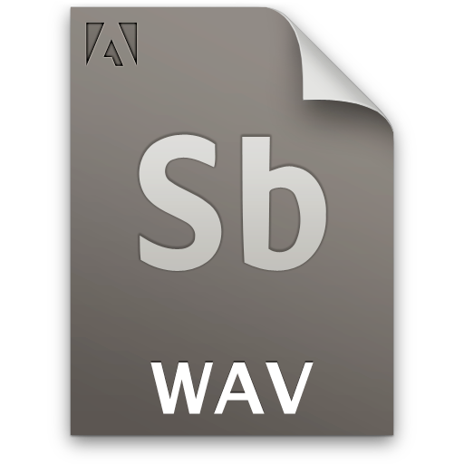 Audio, Document, File, Sb, Secondary, Wav Icon