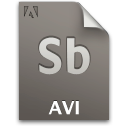 Avi, Document, File, Sb, Secondary Icon