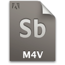 Document, File, M4v, Sb, Secondary Icon