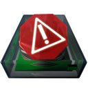 Alert, Disk, Warning Icon