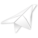 Folded, Paper, Plane Icon