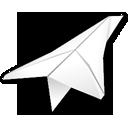 Folded, Paper, Plane Icon