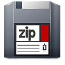 Unmount, Zip Icon
