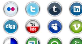 Chrome Social Media Icons